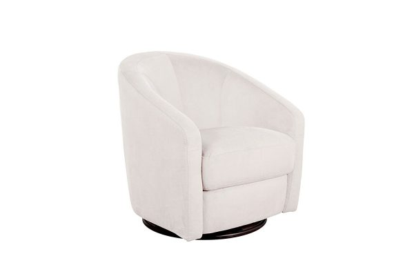 Babyletto Madison Swivel Glider Chair Ecru Microsuede