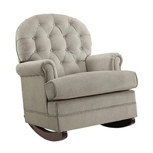 Baby Relax Brielle Button Tufted Upholstered Rocking Chair
